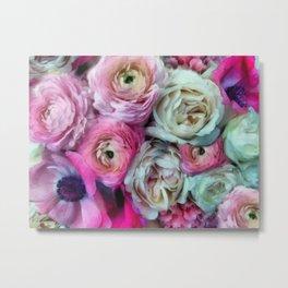 Romantic flowers I Metal Print