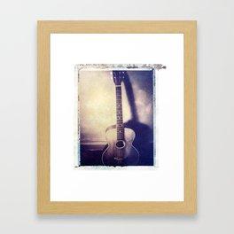 1916 Gibson L1 Archtop - Polaroid Image Transfer Framed Art Print
