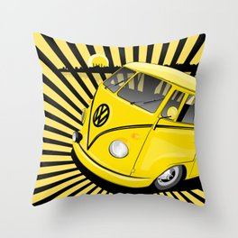 bang bus Throw Pillow
