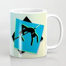 High-level jumper in the athletics Coffee Mug