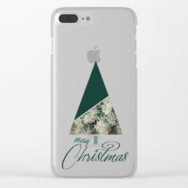 Green Xmas #society6 #green #xmas Clear iPhone Case