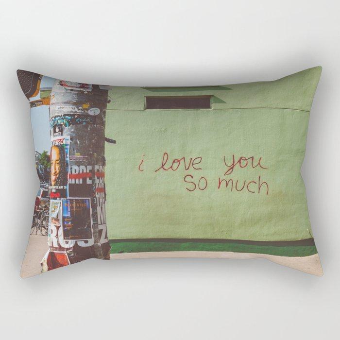 I Love You So Much Austin Rectangular Pillow