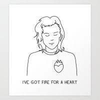 I've got fire for a heart Art Print