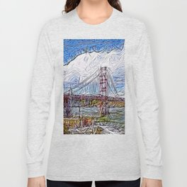 Golden Gate Bridge abstract Long Sleeve T-shirt