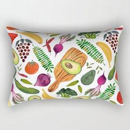 eat clean Rectangular Pillow