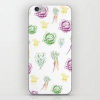 vegetable iPhone & iPod Skins featuring vegetable love by gingerjillian