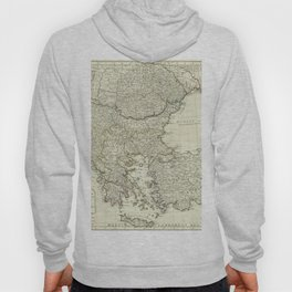Vintage Map Print - 1794 A new map of Greece and Turkey in Europe Hoody