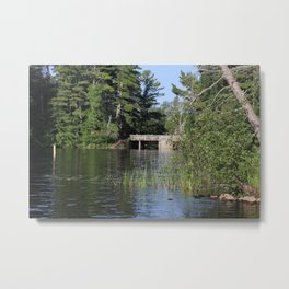 Logger Dam at Round Lake Metal Print