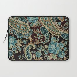 Brown Turquoise Paisley Laptop Sleeve