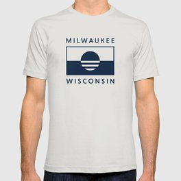 Milwaukee Wisconsin - Navy - People's Flag of Milwaukee T-shirt