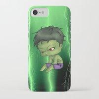 chibi iPhone & iPod Cases featuring Chibi Hulk by artwaste