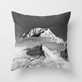 Mont Blanc from Les Arcs French Alps France Throw Pillow