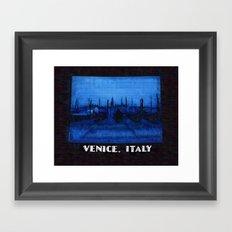 Venice Italy Gondolas Framed Art Print