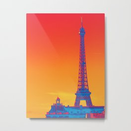 Psychedelic Eiffel Tower Metal Print