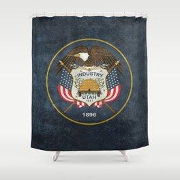 Utah State Flag - vintage version Shower Curtain