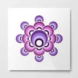 70's Ultraviolet flower Metal Print