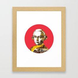 Mozart Kugel Red Framed Art Print