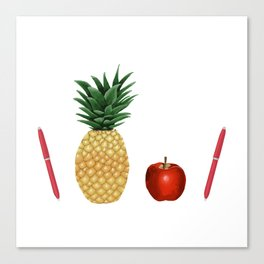 Pen Pineapple Apple Pen - PPAP - Homage - Funny - 57 Montgomery Ave Canvas Print