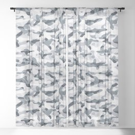 Urban Light Camouflage Sheer Curtain