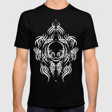 Alien Tribal Tattoo - white Black MEDIUM Mens Fitted Tee