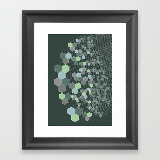 Hexagonal / cool Framed Art Print