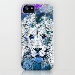 LION WHITE STARRY NIGHT iPhone Case