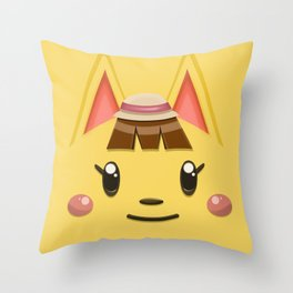 Animal Crossing Katie Throw Pillow