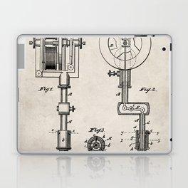 Tattoo Pen Patent - Tattooist Art - Antique Laptop & iPad Skin