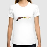 gun T-shirts featuring Gun by Steve Mac