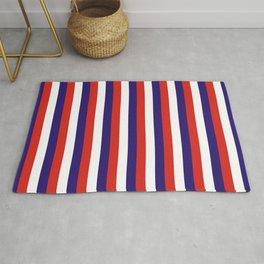 Costa Rica laos flag stripes Rug