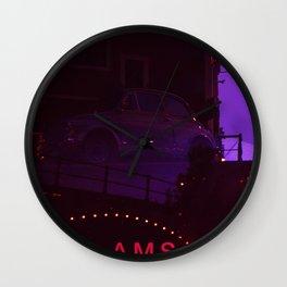 Amsterdam at Night No.1 Wall Clock