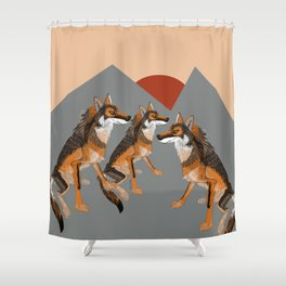 Wolves of the World: Iberian wolf (GREFA) Shower Curtain