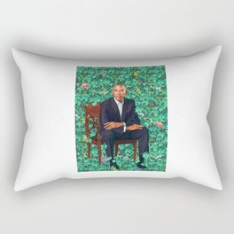 Barack Obama Portrait Rectangular Pillow