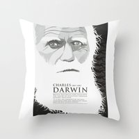 darwin Throw Pillows featuring Darwin by James Northcote