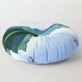 Mountain Reflection Floor Pillow