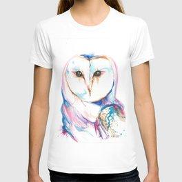 Colorful Barn Owl Splash T-shirt