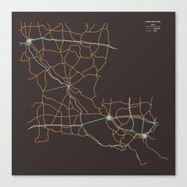 Louisiana Highways Canvas Print