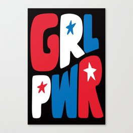 GRL PWR Red, White and Blue Canvas Print
