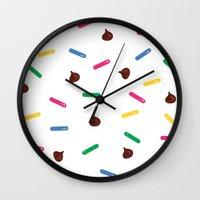 dessert Wall Clocks featuring Dessert by olive yuvencia