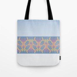 Leafy lavender Nouveau stripe Tote Bag