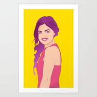 pretty little liars Art Prints featuring Pretty little liars - Lucy Hale by Lais Design