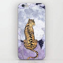 Tiger Moon | Colour Version iPhone Skin