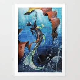 Ballerina of the Sea Art Print