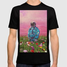 The Flower Field Black X-LARGE Mens Fitted Tee