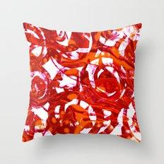 orange fusion Throw Pillow