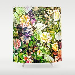 Scattered Blooms And Verdure Shower Curtain
