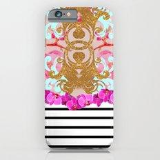 Fashion Girly Pink Vintage Floral Trendy Stripes Pattern Slim Case iPhone 6