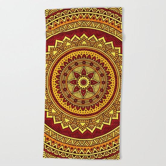 Hippie mandala 78 Beach Towel
