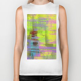 Abstract Thoughts 3 - Textured painting Biker Tank