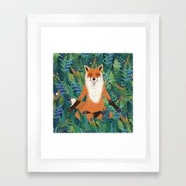 Fox Yoga Framed Art Print